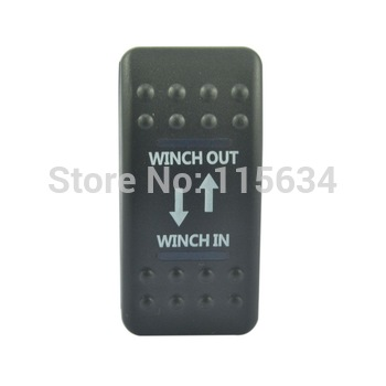 WATERPTOOF BLUE LED ROCKER SWITCH MOMENTARY WINCH IN OUT 4WD 12V 4X4