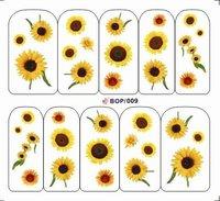Hybrid models New Water Transfer Nail Art Sticker Flower Sticker Watermark  Sticker nail polish uv gel diy art