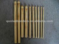 Bamboo crochet hook needles