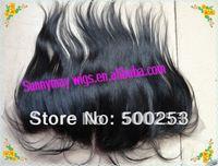"straight 100% Malaysian Virgin Human Hair Lace frontal  13"" X 4"""