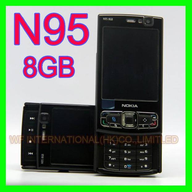 Original NOKIA N95 8GB Mobile Phone 3G 5MP Wifi GPS 2.8''Screen GSM Unlocked Smartphone & One year warranty(China (Mainland))