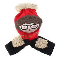 Autumn&Winter Dog Clothes Pet Clothing,Pet Apparels,Berber Fleece Lovely Spectacled Boy Style Jumpsuits for Dogs (S-XXL)