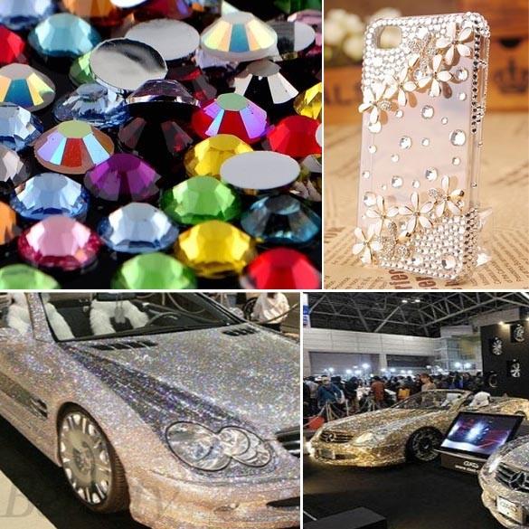New 3000pcs Mix 12 Color 1.5mm Circle Beads Nail Art Rhinestones Glitters Nail Art Gems Decoration 6398(China (Mainland))