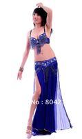 Belly Dance Costume set ACELIN 3 pics bra&belt&skirt 34B/C 36B/C 38B/C 10 colours