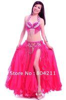 Belly Dance Costume Set 3 pics Bra&Belt&Skirt 34B/C 36B/C 38B/C 40B/C 11 colours Egypt02