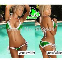 2014 Summer New Free Shipping Sunlun Ladies' Fashion Green Sexy Bikini Swimwear Women,Swimsuit,Beachwear