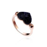 Italina Rigant 18K Gold Plated Heart Ring