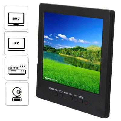 Portable Car LCD 8 inch Color CCTV Monitor with VGA BNC AV Port Speaker(China (Mainland))