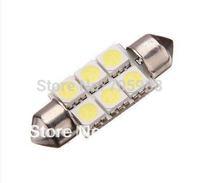 20 * 36mm 6 SMD 5050 LED Festoon Dome Light Bulbs White color