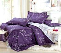 Hot! Queen size 4pcs bedding set duvet cover 100% Luxury cotton printing bed linen bedclothes bed sheet set pillowcase coverlet