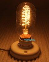 Free Shipping Type A Classical Edison Retro Tungsten Filament Nostalgic Wire Buld ,Incandescent Bulb
