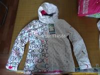 2014 new mens  snowboarding jacket waterproof scrawl skiing jacket mens ski suit skiwear windproof anorak white