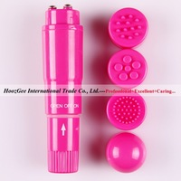 Free Shipping 4 Head Replaceable Pocket Rocket Waterproof Mini Massager Vibrator Sex Toys Adult Products XQ-804