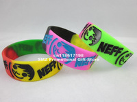 NEFF SMILEY FACE RUBBER BRACELET,neff smile fact wristband,promotion gift,silicon debossed wristband,50pcs/lot,free shipping,gry