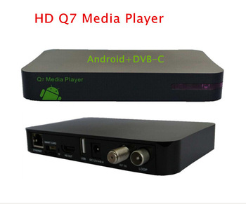 2 pcs/lot HD DVB-C with CONAX CAS cable PVR receiver with remote  HDMI 1080I H.264/MPEG4  network sharing tuner made in shenzhen