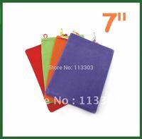 2pcs Universal 7 inch Sleeve Case Soft for 7 inch Tablet PC Ainol Novo 7 Rainbow Crystal Quad Core Venus Fire Flame AX1 Pipo S1