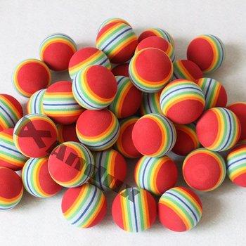 100 GOLF PRACTICE BALLS RAINBOW Sponge FOAM BALL TRAINING INDOOR Red