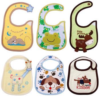 Cotton Layer Cartoon Baby Apron Toddler Kids Cute Bib Gift Waterproof Reusable  #23592