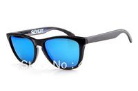 New Style Designer Sunglass Men's/Women's Frogskins Revert 95 Matte Black Sunglass Blue Iridium Lens Blue Logo Polarized 55mm