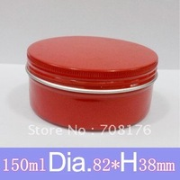 150ml Red Metal Tins,Metal Deep Tins with Covers,Aluminium Jar for a wide range of cosmetics, confectionary, candles and more