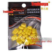 Free shipping Trulinoya fishing lure bait soft simulation Corn 10mm  golden yellow corn sweet taste 20pcs/pack * 5pack =100pcs