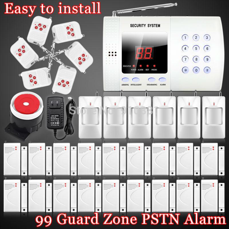 Neue drahtlose pir Einbrecher Smart-Home-Automation Stimme pstn selbstvorwahlknopf alarmanlage mit 99 Verteidigung zones+ ems versandkostenfrei