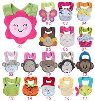 free shipping 10pcs/lot infant  bib babies rice cartoon 3 layers embroidery high quality carter waterproof bib