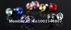 DHL shipping 300pcs Metal Crystal diamond anti Dust Plug Stopper/earphones cover/headset cover/Cap Dock Cover for iphone 4 4S(China (Mainland))