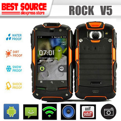 Cheapest !Original AGM ROCK V5 Waterproof Dustproof Shockproof Android 3G Mobile Phone Support GPS WIFI /sa(Hong Kong)