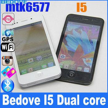 BEDOVE I5 MTK6577 Dual core 4.0 inch Smart phone With 3G GPS WIFI 8.0MP Camera Black(CA158602) white/ black