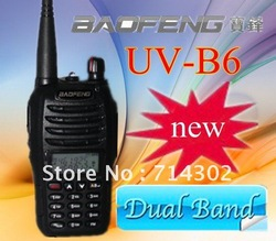 new luanch BaoFeng walkie talkie Dual Band Dual Display handheld Two Way Radio UV-B6(China (Mainland))