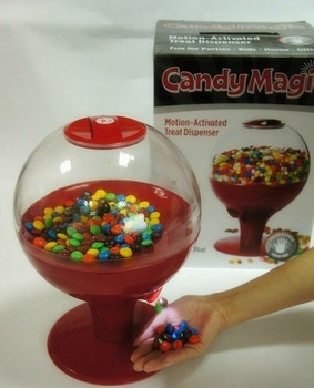 Motion Activated Candy Dispenser, Magic Candy Dispenser,Install battery can run,Suitable for containing candy / nut