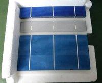 "Precut  1/5 1.2""x6'' 31.5mmx156mm poly/multi sillcon solar cell 0.75W 3bus bar for  Free shipping High Quality"
