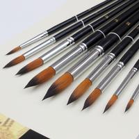 9 pcs pointed nylon hair paint brush art supplies gouache watercolor oil painting brush artist brush free shipping