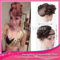 1Pcs/Lot Synthetic Fringe Hair Front Bang Hair Bang Clip In On Hair Bangs Extension B4