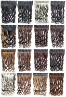 5 clips in on synthetic wavy hairpiece  hair extension ponytail 100 colors available 60cm 130gram 10pcs/lots