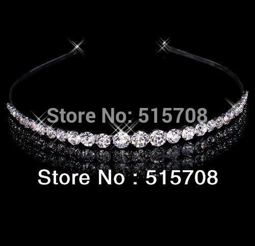 Free Shipping 2014 Beautiful Clear Crystals Wedding Party Bridal Tiara/ Headpiece/ Headband(China (Mainland))