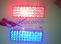 Car flash lamp red and blue 96 led flash lamp net lights strobe light warning light