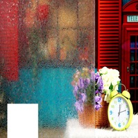 45cm*90cm decorative 3D irregular rhombus frosted pvc self adhesive static cling privacy window film