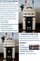 High pressure Polyurethane coating machine and High PU gun
