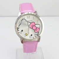 Min order is $10 (mix order) Fashion women's watch lovely cute  kitty Wrist watches wholesale mix color free shipping W35