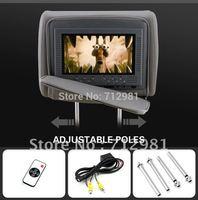 2014 New Free shipping 2X7 inch Headrest car DVD player Radio TV Monitor car dvd headrest player