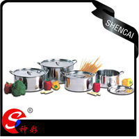 /SC-843    8pcs Stainless Steel Stock pot Souce Pot  Soup pot/straight shap