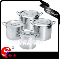 4PCS C0-64 Stainless Steel Indian Cooking Pot Stock Pot