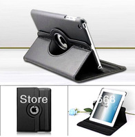 360 Degree Rotating Magnetic Smart Leather Case Cover for Apple iPad mini Free Shipping 50pcs/lot