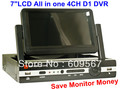 Newest DVR with 7 inch LCD Monitor All-in-one Complete Set, support Network and Remote View by Smartphone