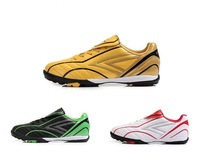 Tiebao child football indoor soccer cleats,HD three colors leather football sport shoes,EUR size 30-36