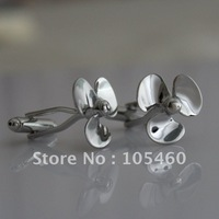 Novelty Sailing Nautical Propeller Fan Windmill Wedding Groom Men Party Business Silver Gift Cufflinks Shirt Suit Cuff Links