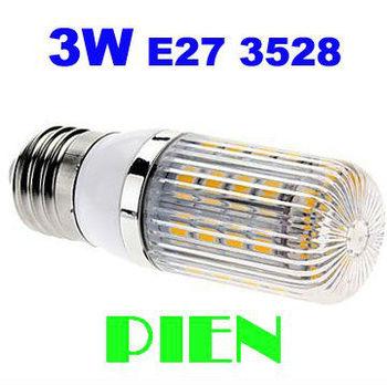 E27 Spotlight 3W SMD 3528 48 LED Corn Bulb Cover Mini 360 degree Home Lamp 220V Warm|Cold White HighPower Free Shipping 5pcs/lot