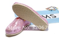 Free Shipping Wholesale and retail slip on classic black,pink,silver and gold glitter canvas shoes